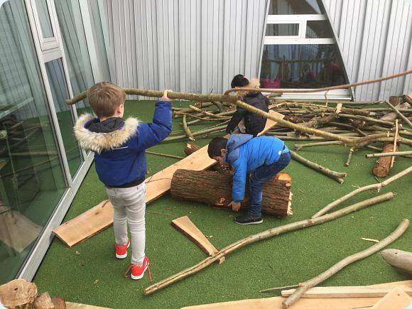 New wood for junior playground